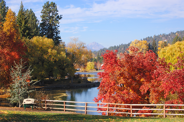 An autumn landscape in Bend